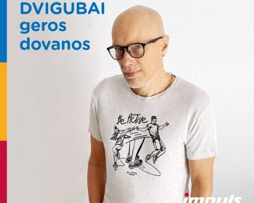 Dovanokite judėjimo džiaugsmą mūsų globojamiems vaikams: įsigykite menininko Algio Kriščiūno piešiniu papuoštus daiktus iliustracija